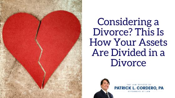 Considerando un divorcio: así es como se dividen sus activos en un divorcio