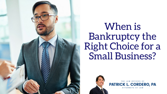 when is bankruptcy the right choice for your business