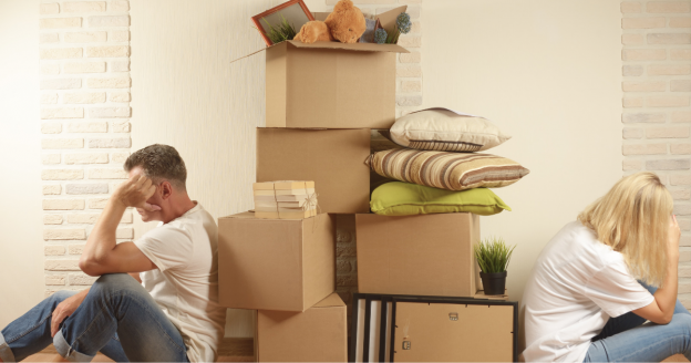 moving out after divorce
